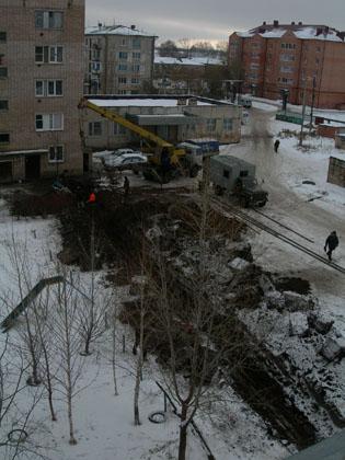 Ремонт трубопровода между жилыми домами 91 и 93 на улице Гая