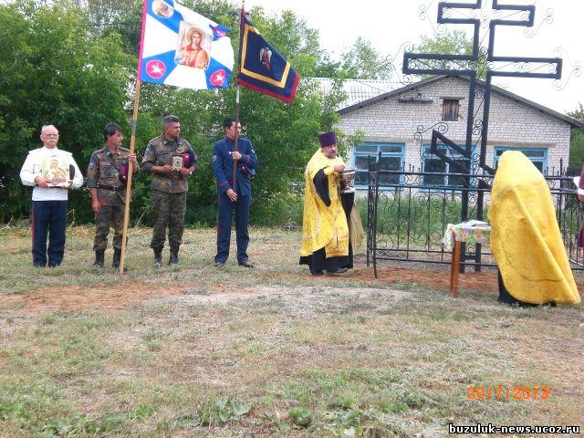 на освещение поклонного креста в село Гаршино