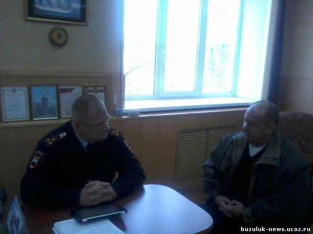 Гуськов Валентин Петрович с заместителем начальника ГИБДД по Оренбургской области полковником полиции А. Котенковым
