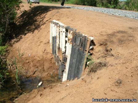 Бузулукским дорожным управлением заграждение для водостока изготовили из металлических отходов