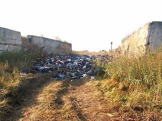 по распоряжению администрации десяток с лишним грузовиков вывалил в силосную яму около села Тарадеи