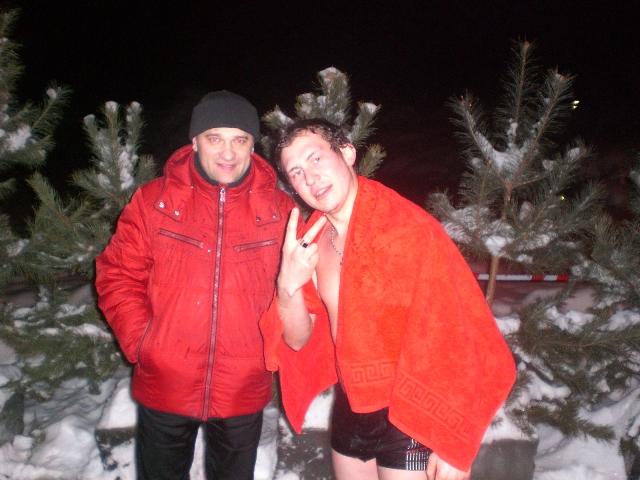 Павел Захаров и Дмитрий кузин в Бузулуке на праздник Крещения Господня