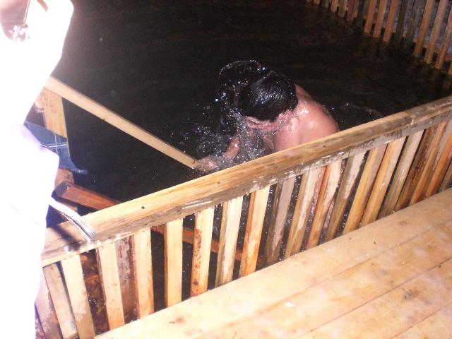 прорубь в Бузулуке оборудована для купания